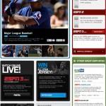 Screenshot of the ESPN homepage