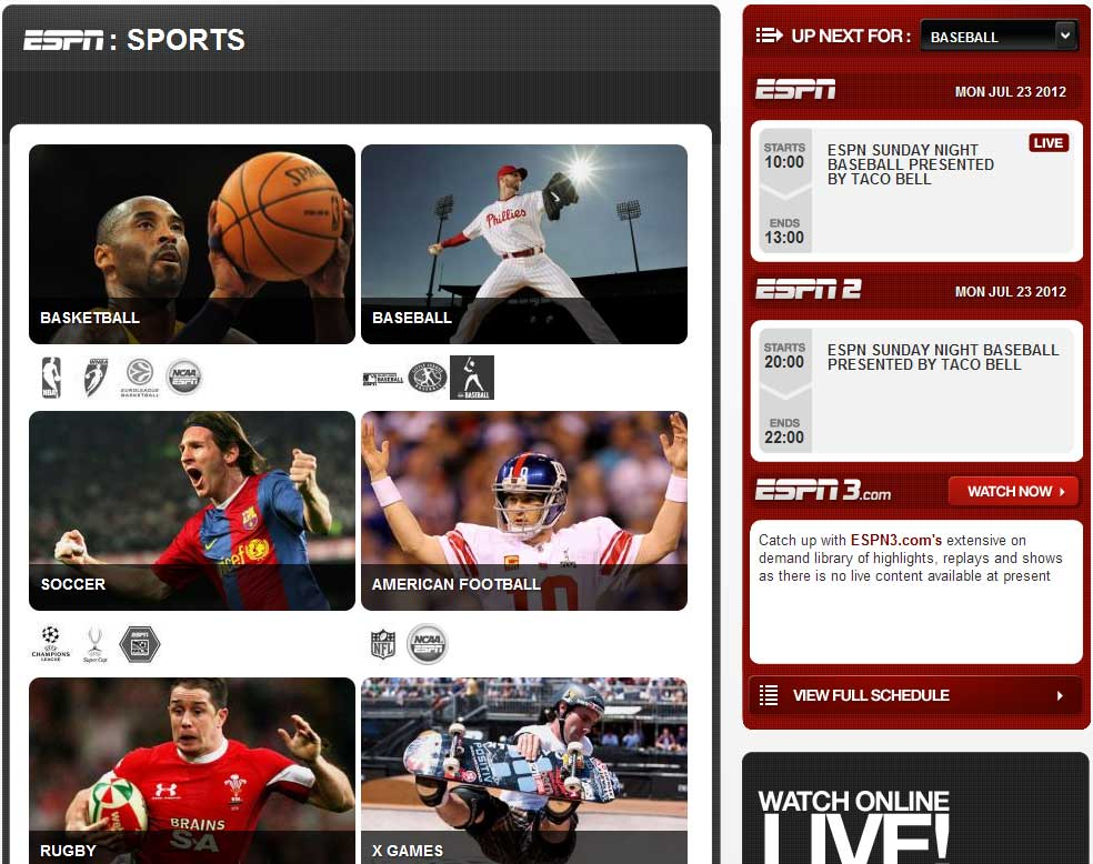ESPN Australia website rebuild | Lafinboy Productions
